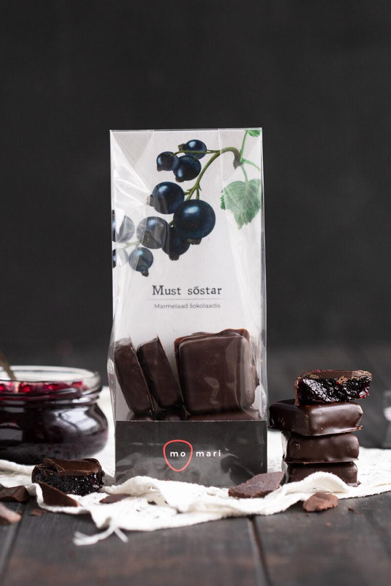 mustasõstramarmelaad šokolaadis