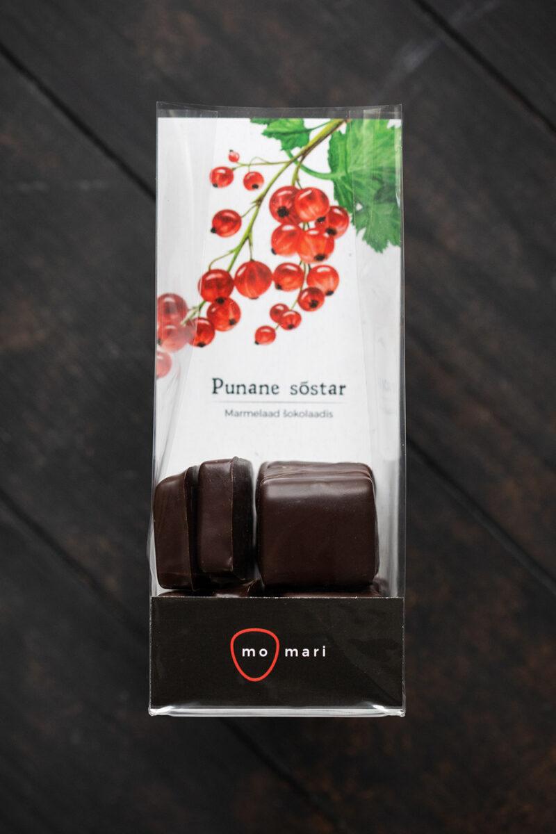 punasesõstramarmelaad šokolaadis
